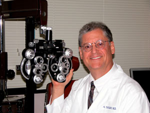 Vision exams performed at Yasgur Eye Associates